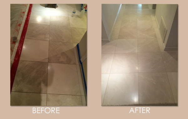 Dirty Pitted Limestone Deep Cleaned