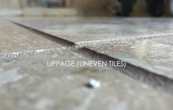 Uneven Travertine Tiles Ground Level