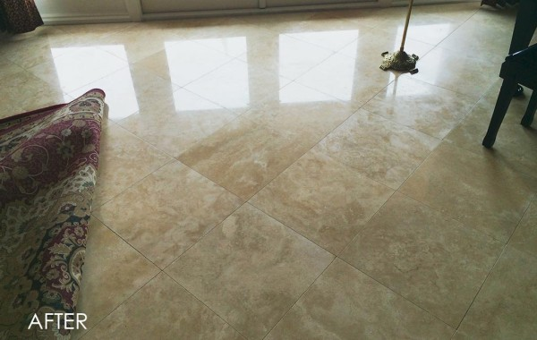 Dull-Looking Marble Honed and Polished