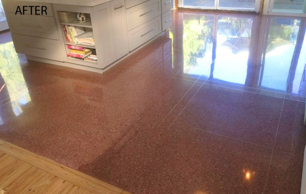 Red Terrazzo Refinished