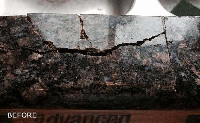 Ed Granite Countertop Repaired San Ramon Damaged