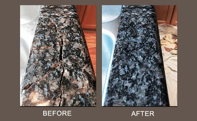 San Ramon Granite Repair Before After