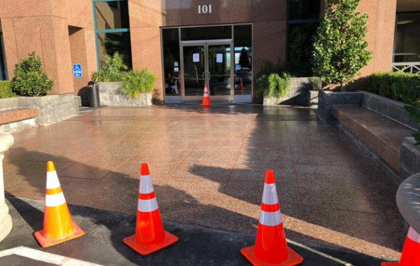 Concrete Entrance Gets Facelift