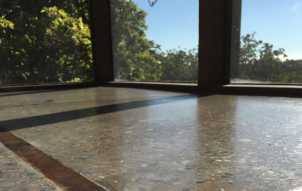 Concrete Ground, Honed, and Sealed
